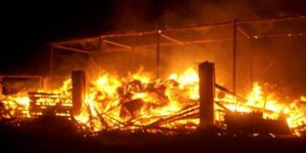 В Лидском районе спасатели ликвидировали пожар в сенохранилище