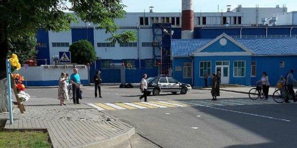 На проходной стеклозавода «Неман» протестовали против ваты