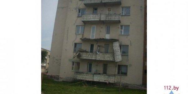 В Лиде обрушился балкон общежития