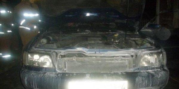 У жителя Лиды из-за короткого замыкание электропроводки сгорела Ауди А6