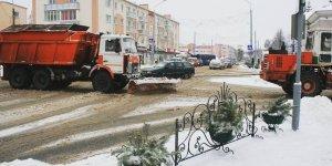 Зима в городе Лиде. Циклон