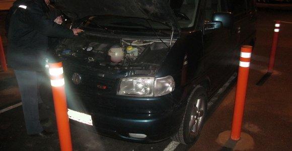 В пункте пропуска «Бенякони» задержан автомобиль «Volkswagen Transporter»