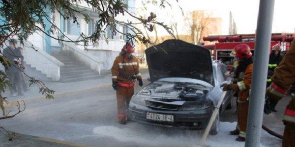 Возгорание автомобиля в субботу