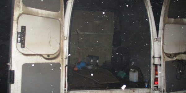 В Лиде горел микроавтобус