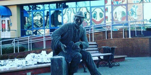 """Скульптура """"Командировочный"""" в городе Лиде"""