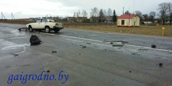 Авария вблизи деревни Белица