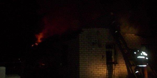Пожар жилого дома в деревне Дайнова