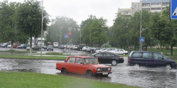 Город Лида затопило (Фото, Видео)