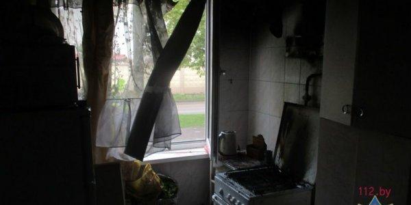 На пожаре в Лиде работники МЧС спасли пенсионера