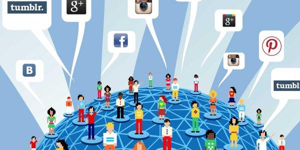 Популярность социальных сетей