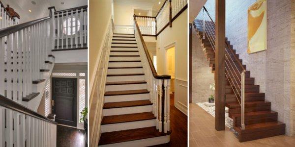 Лестницы в коттеджах