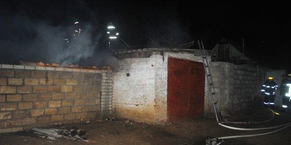 Пожар хозяйственной постройки