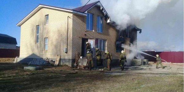 В Лиде произошел пожар в кирпичном доме