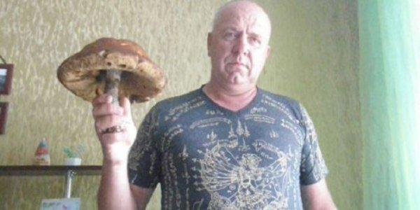 Житель Лиды нашел гриб массой почти с килограмм