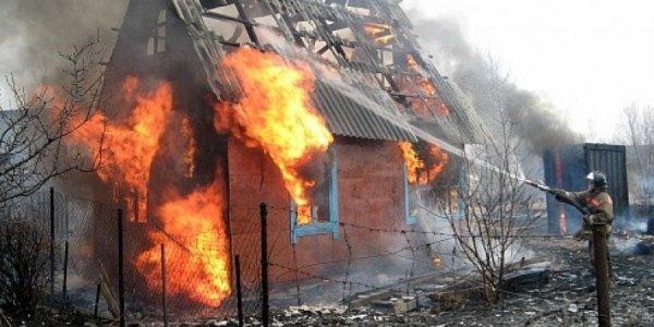 В Лидском районе сгорел дачный домик