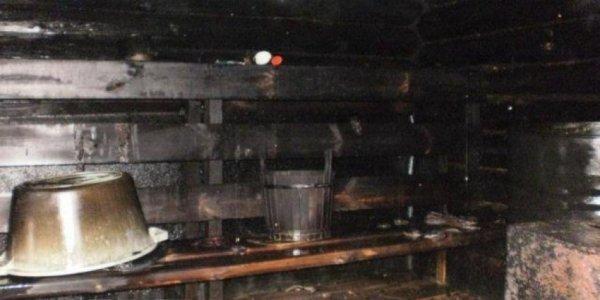 В Лиде перекал печи привел к пожару в бане