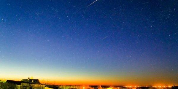 Под Лидой произошло падение метеоров (Видео)
