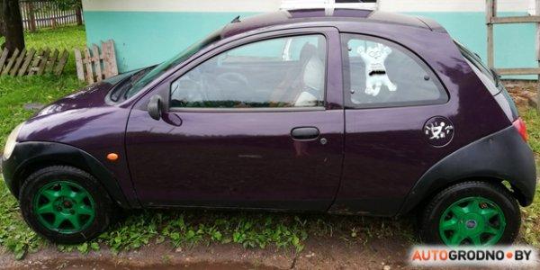 Новый владелец Ford Ka приехал в Гродно, переоформил автомобиль и оплатил штраф