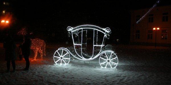 Ночной зимний город Лида (Декабрь 2018)