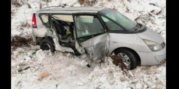 Авария на участке дороги в Щучинском районе