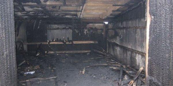 В Лидском районе сгорел гараж с автомобилем