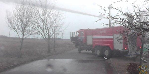В Лидском районе пожар оставил хозяев без крыши над головой