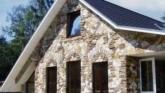 Отделка стен камнем, наружная отделка дома под камень