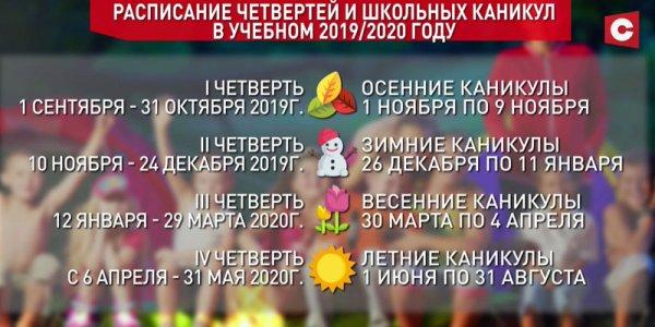Школьные каникулы на Лидчине увеличат в 2020 году