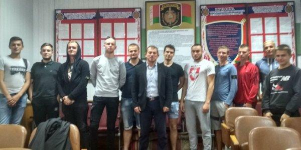 В Лиде прошла встреча фанатов хоккейного клуба с милицией