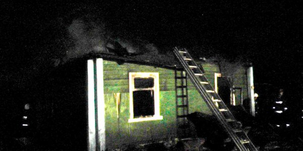На ночном пожаре в Лидском районе погиб мужчина