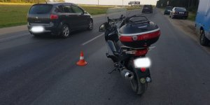 В Лиде мотоциклист не уступил дорогу «Форду»
