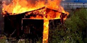 В Лиде горел гараж