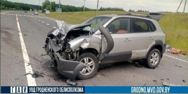 В Лидском районе Opel, выезжая на трассу М-6, не пропустил Hyundai
